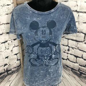 Disney Mickey Mouse acid wash bleach t-shirt M
